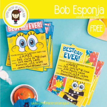 Invitaciones bob esponja para descargar gratis