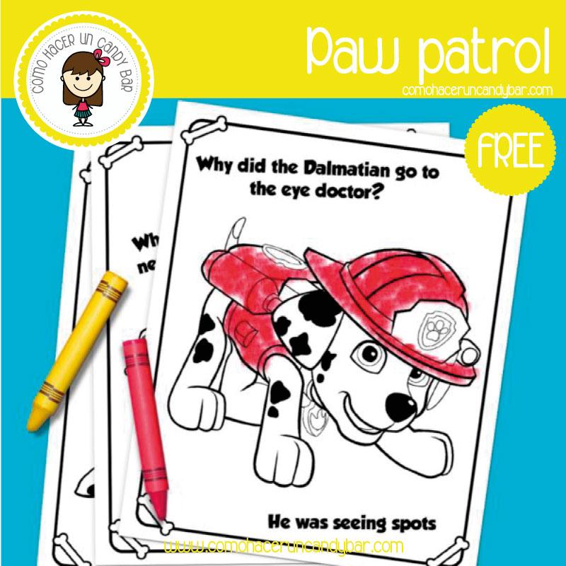 dibujo marshal paw patrol para descargar gratis