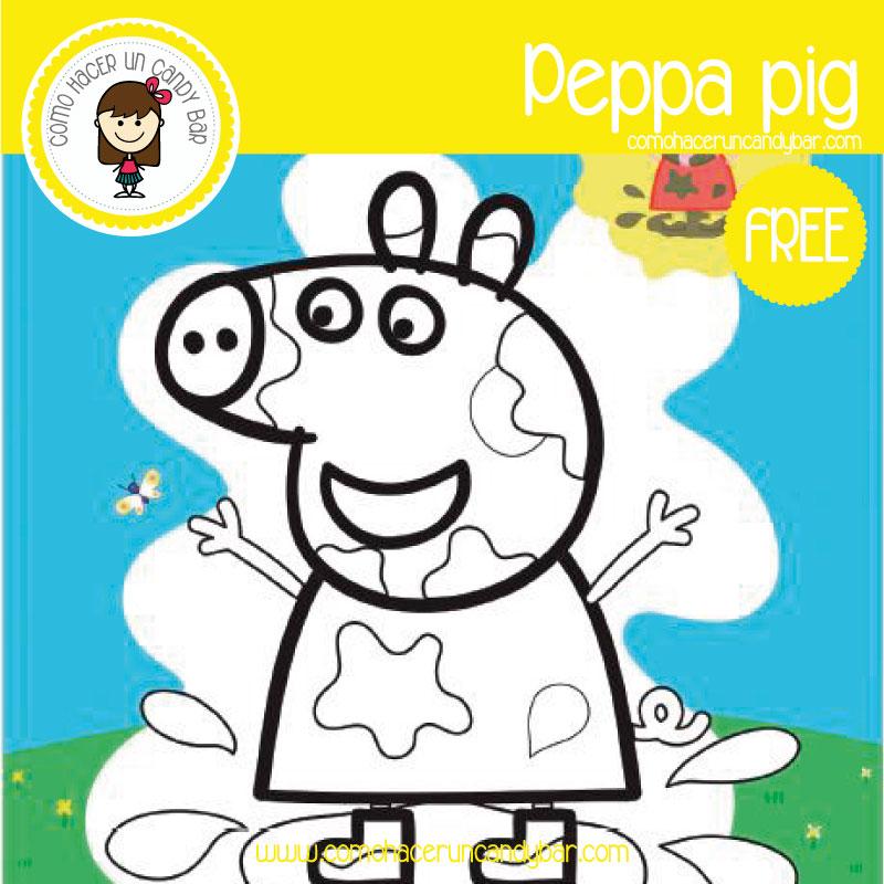 póster de peppa pig para descargar gratis
