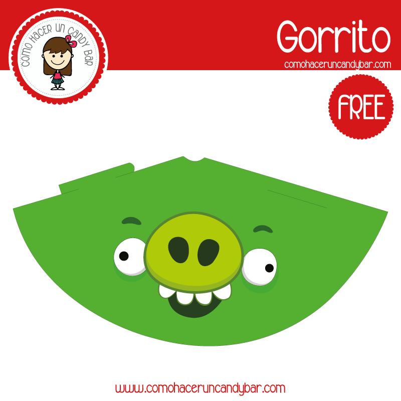 imprimible gorro angry birds para descargar gratis