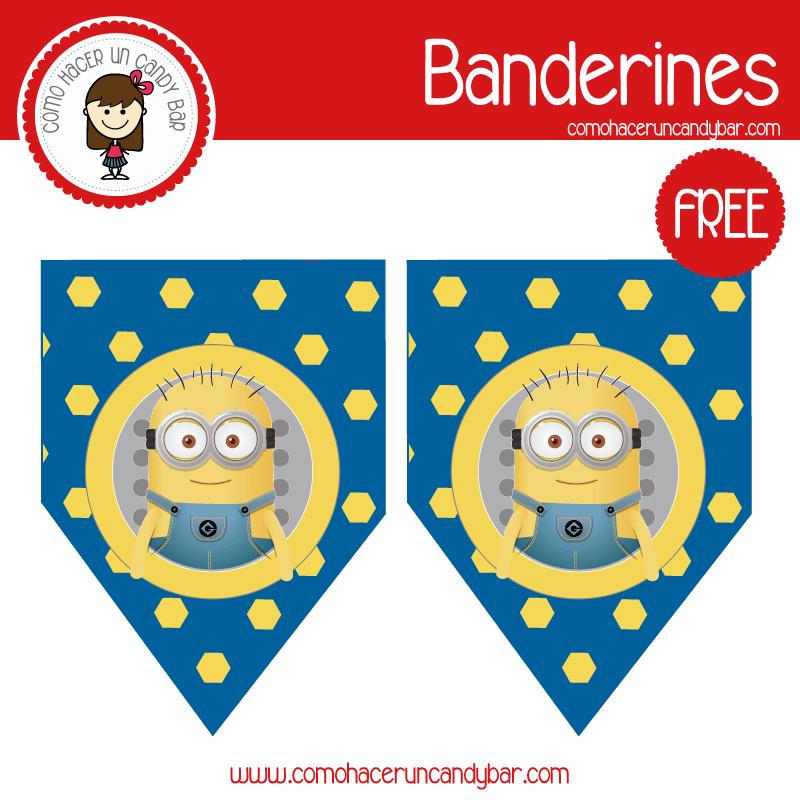 imprimible banderin minions para descargar gratis