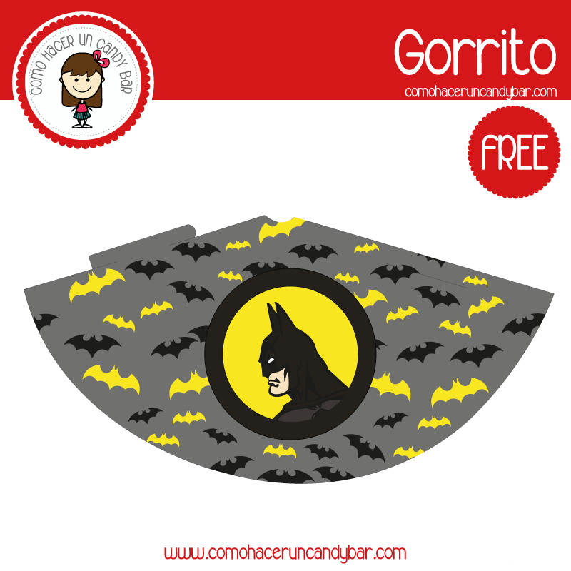 imprimible gorro batman para descargar gratis