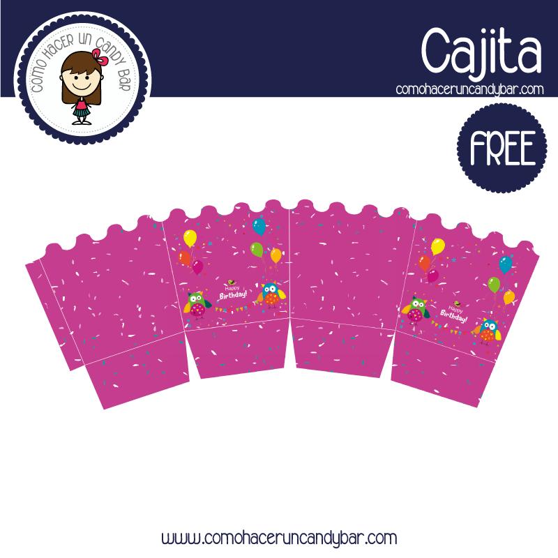Caja decorativa de cumpleaños para imprimir gratis
