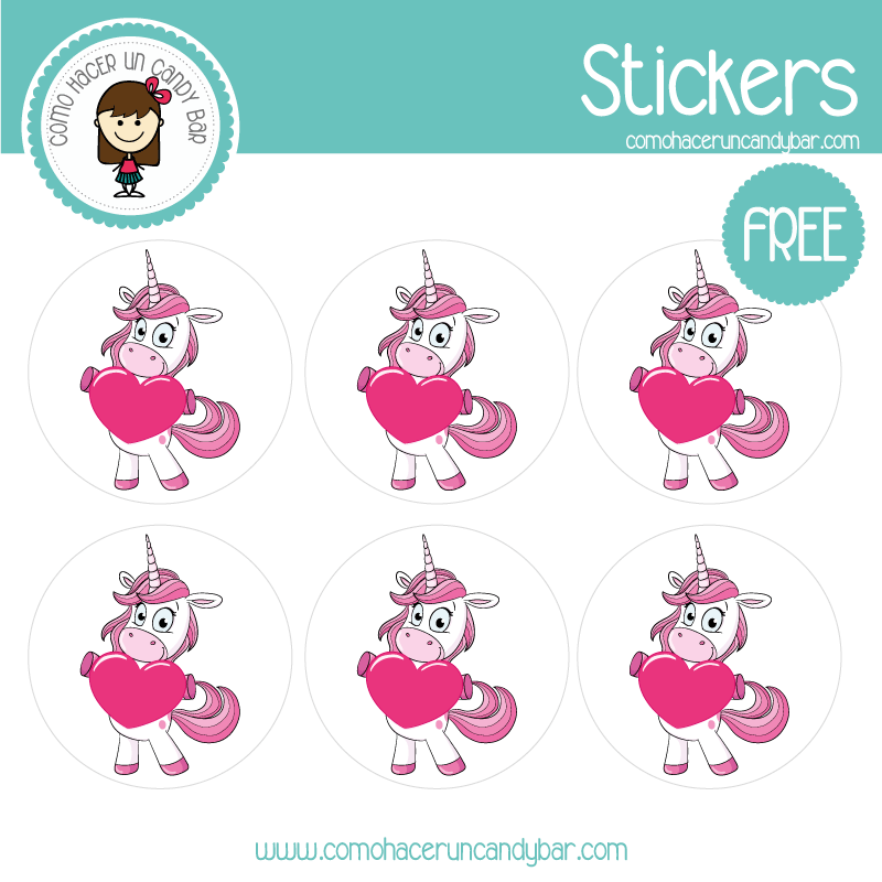 stickers de unicornio 8 para descargar gratis