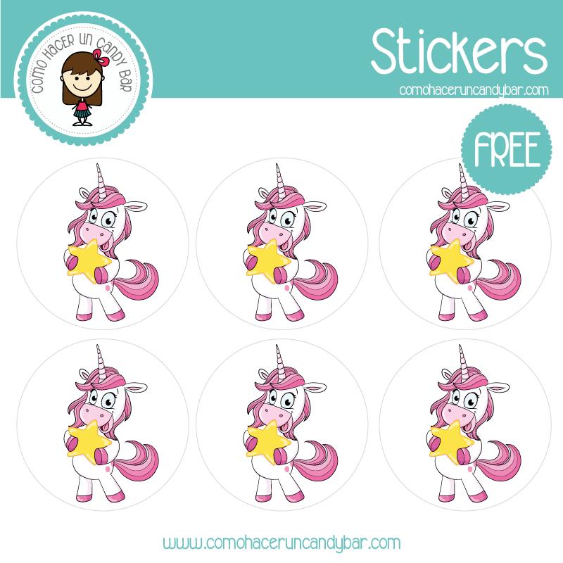 stickers de unicornio 4 para descargar gratis