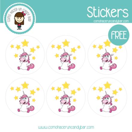 stickers de unicornio 3 para descargar gratis