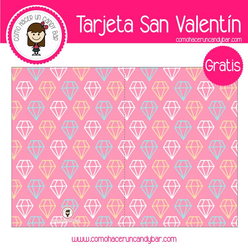 Tarjeta de san valentin diamante para descargar gratis