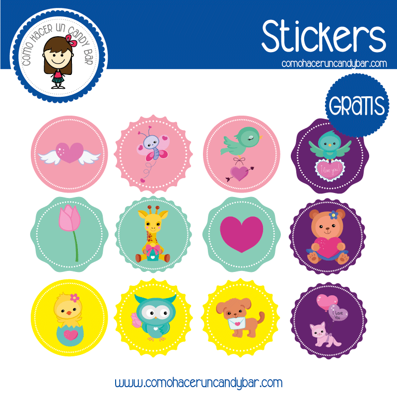 Stickers para descargar gratis de baby shower niña