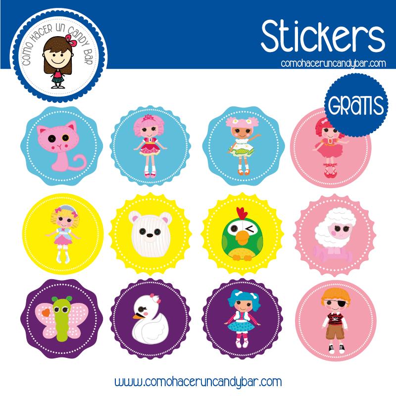 Imprimible Stickers para descargar gratis de ragdolls