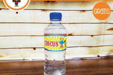 Imprimible Stickers para botella de circo para descargar gratis