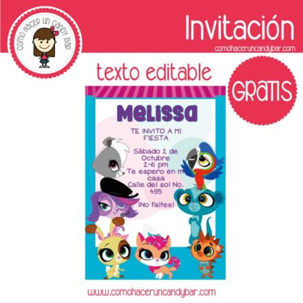 Invitación de little pet shop para descargar gratis