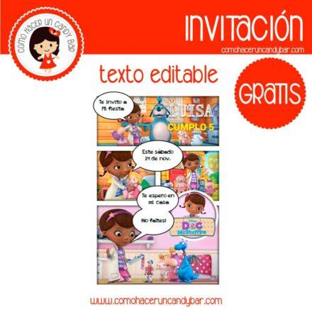 Invitación de Doctora juguetes para descargar gratis