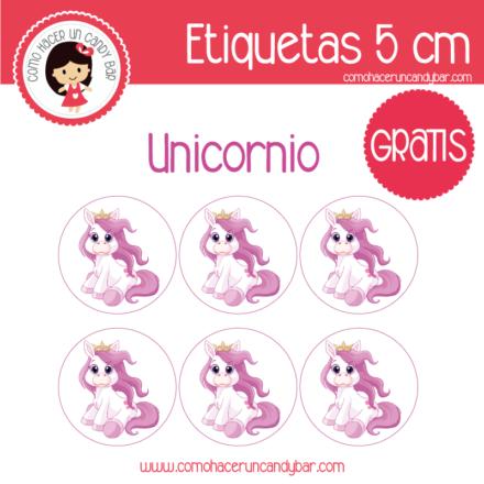etiquetas de unicornio para imprimir