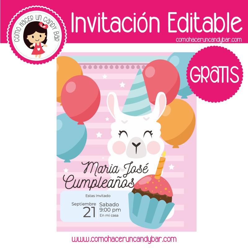 Invitacion editable gratis