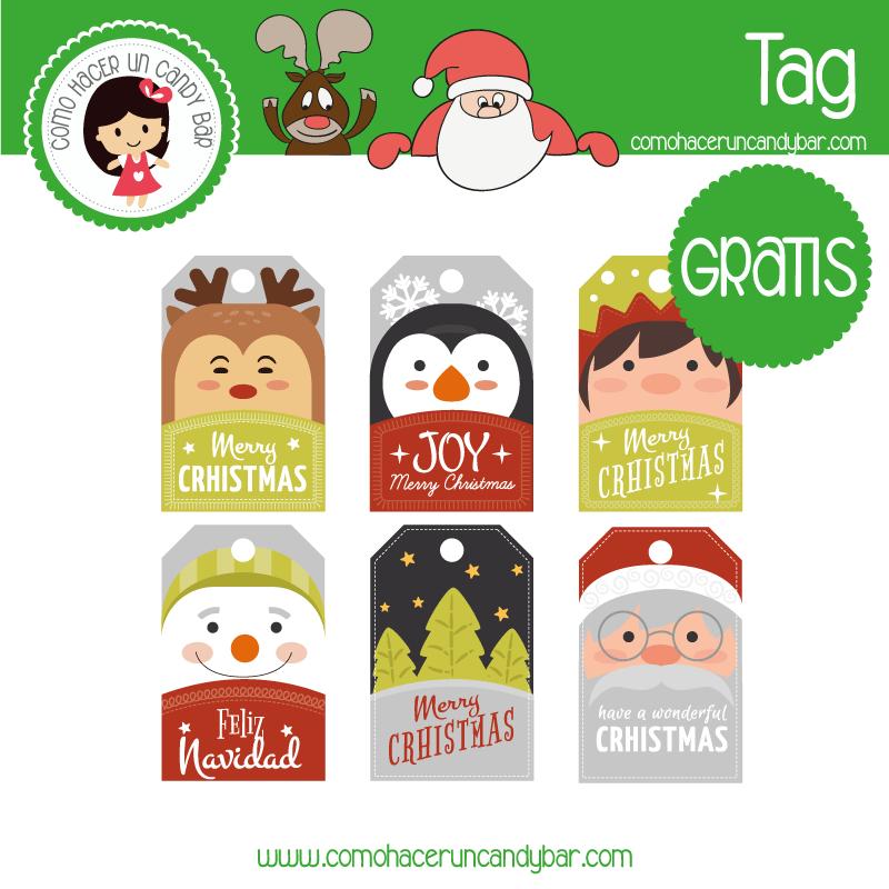 Etiquetas navideñas para descargar gratis
